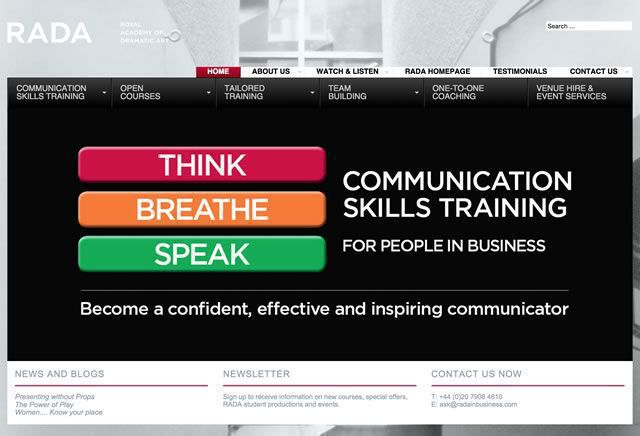 RADA:COMMUNICATION SKILLS TRANING FOR PEOPLE IN BUSINESS